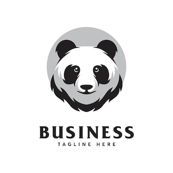Panda logo design template
