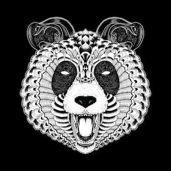 Panda ornato illustrazione