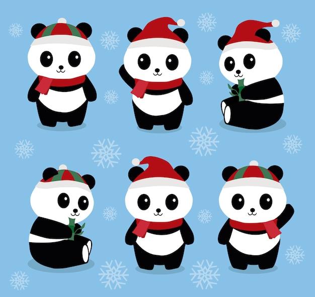 Pandas di natale