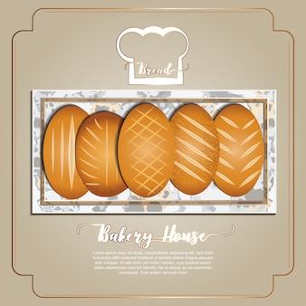 Pane, collezione di prodotti da forno