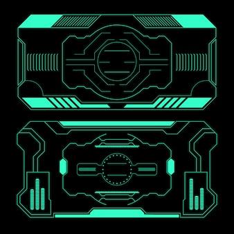 Panel view design set di elementi di base