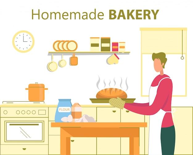 Panificio fatto in casa, concetto piatto di cucina casalinga