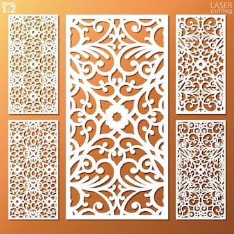 Pannello metallico ornamentale lasercut.