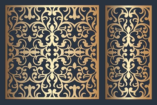 Pannello ornamentale fustellato. pannello metallico lasercut. pannello traforato dell'armadio. motivo decorativo a filigrana.