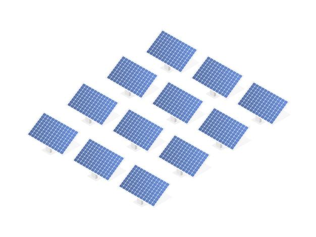 Pannello solare altamente dettagliato. moderna alternativa eco green energy.