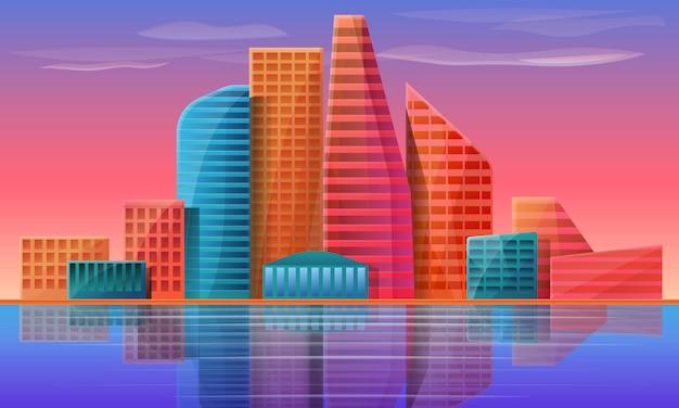 Panorama della città, illustrazione vettoriale