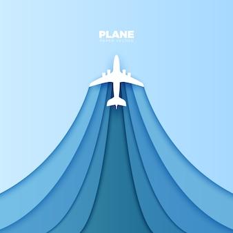Paper plane vector origami