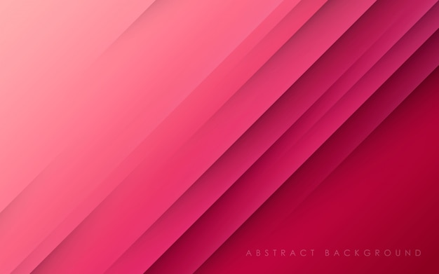 Papercut diagonale del fondo rosa astratto