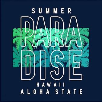 Paradise - tipografia