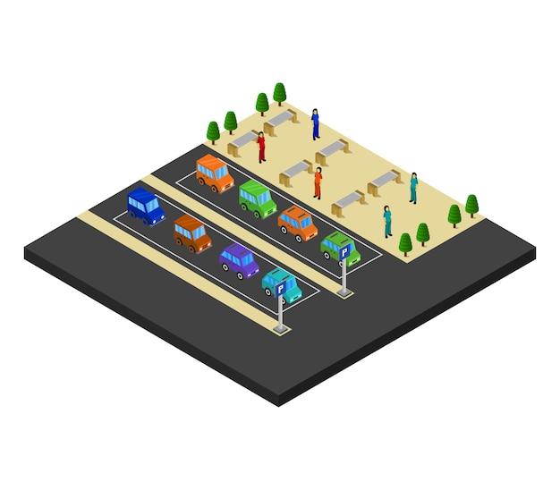 Parcheggio isometrico