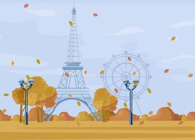 Parco autunnale di parigi