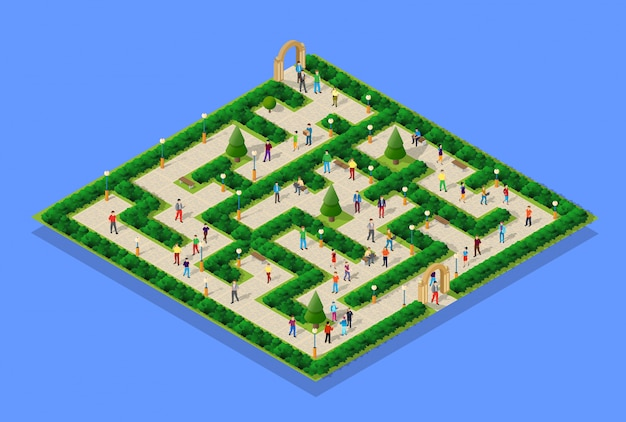 Parco cittadino con persone
