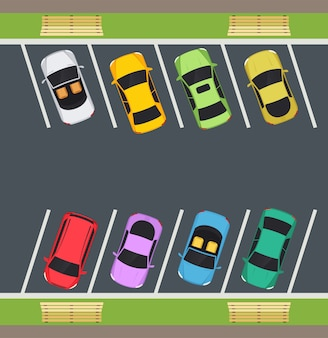 Parco con posti auto