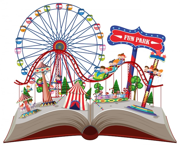 Parco divertimenti in un libro pop-up