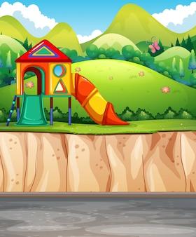 Parco giochi al parco