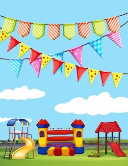 Parco giochi con molti play station