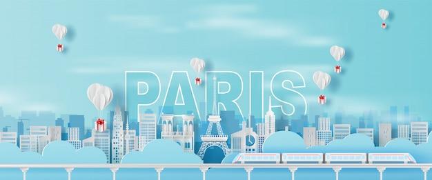 Parigi di viaggio della torre eiffel di festa di festa