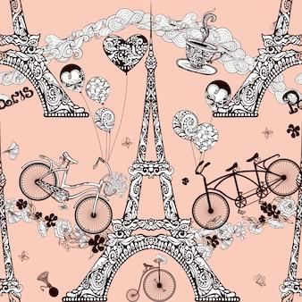 Parigi seamless pattern