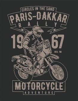Paris dakkar rally motorcycle