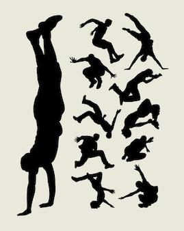 Parkour silhouette