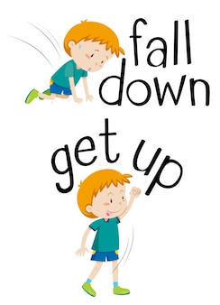 Parole opposte per cadere e alzarsi
