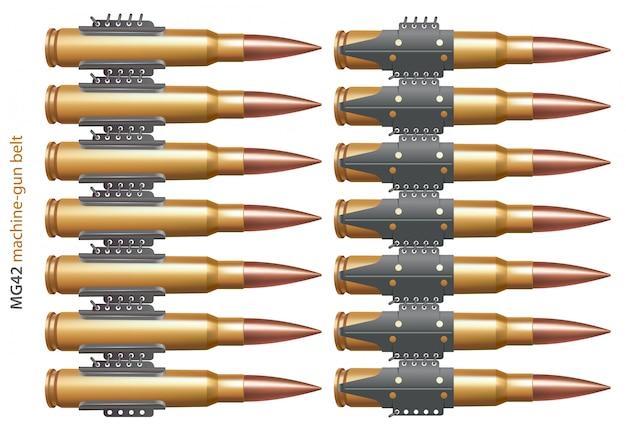 Parte della cintura della mitragliatrice