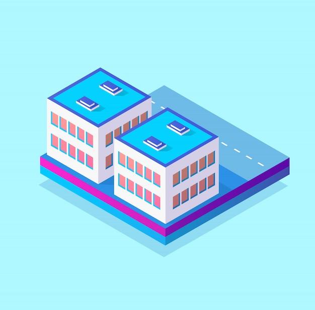 Parte di distretto isometrica 3d del modulo blocco
