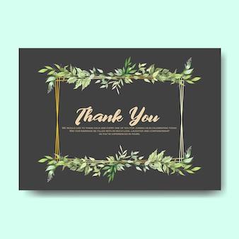 Partecipazioni di nozze invito con bellissime foglie e fiori