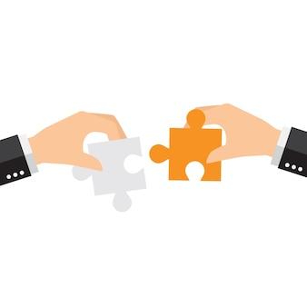 Parti di puzzle sfondo di progettazione