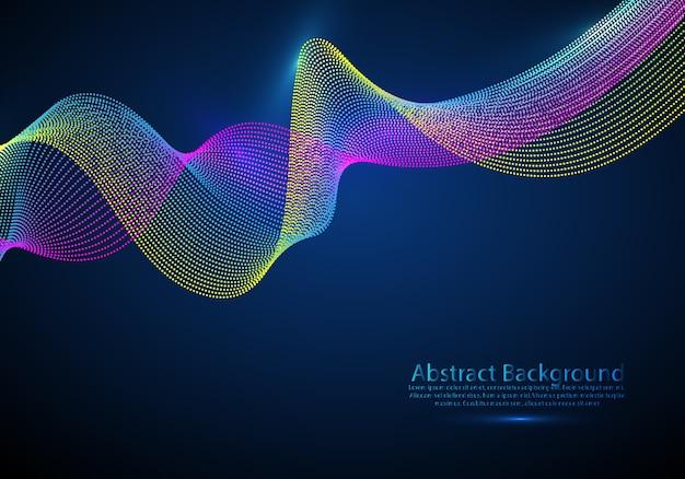 Particelle 3d mesh array wave, suono fluente.