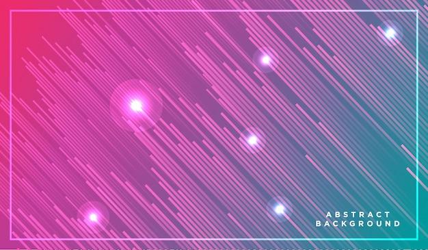 Particelle di luce al neon, stelle cadenti, meteoriti che volano ad alta velocità su dark space