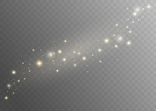 Particelle di polvere magica bianche