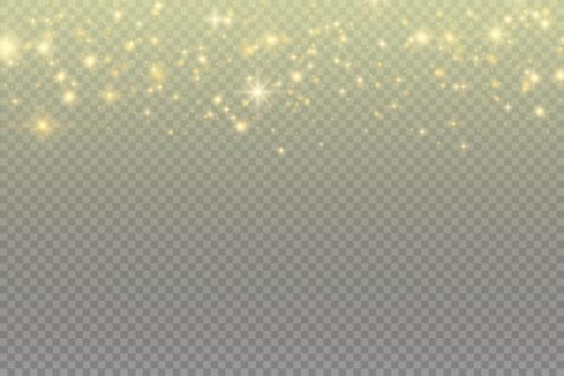 Particelle incandescenti su nero