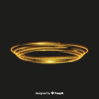 Particelle lucenti a spirale stile realistico