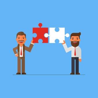 Partner di connessione uomo d'affari