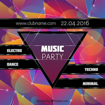 Party poster musica lucido