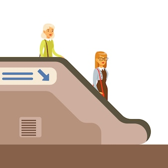 Pasanger discendente scala mobile in metro