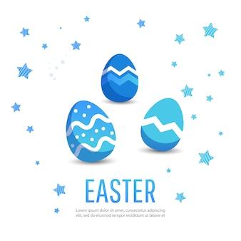 Pasqua. banner di vendita con posto per il testo