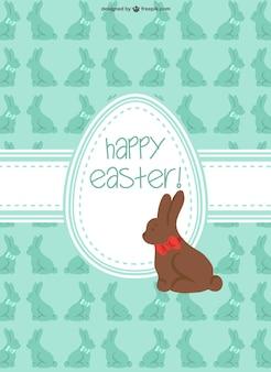 Pasqua coniglio di cioccolato