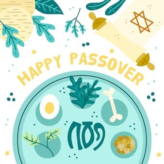 Pasqua ebraica con il cibo