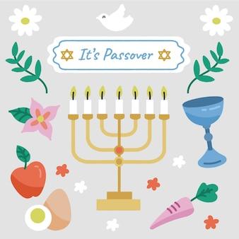 Pasqua ebraica con menorah