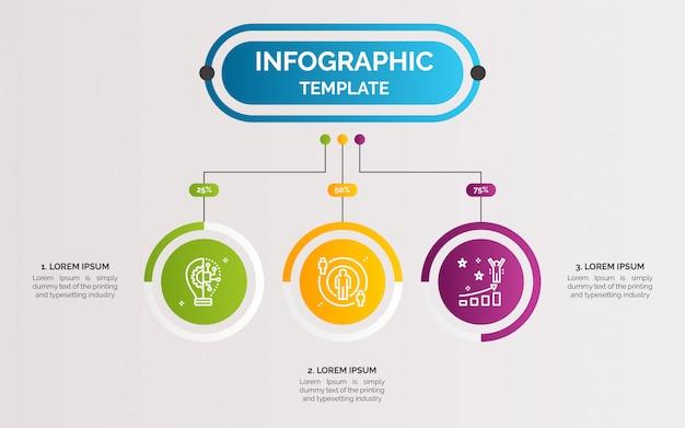 Passaggi di business infografica