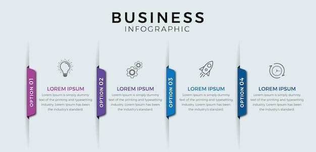 Passaggi di infografica di affari