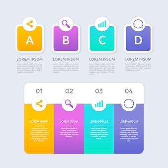 Passaggi di infografica in design piatto
