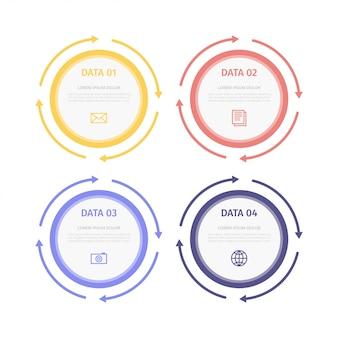 Passaggi infographi piatti