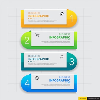 Passi di infografica moderno business