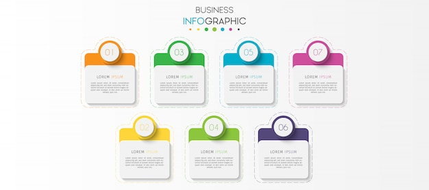 Passi o opzioni grafico infografica elemento infografica