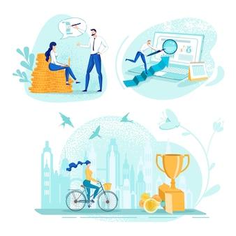 Passi per il successo e modi per raggiungere l'obiettivo di denaro