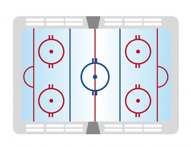 Passo colorato hockey isolato su sfondo bianco vettoriale