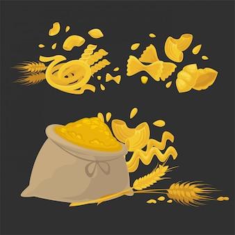 Pasta grezza di tipi solidi di grano naturale